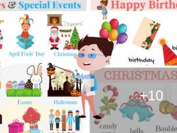 Holidays Vocabulary in English 16