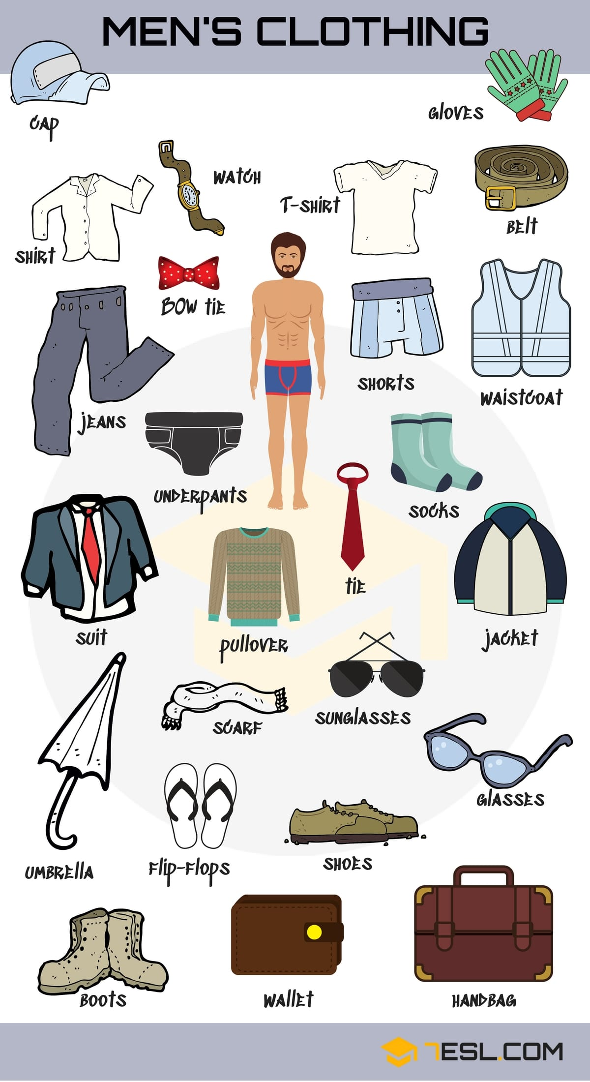 Types of Clothing: Learn Clothes and Accessories Vocabulary in English 1