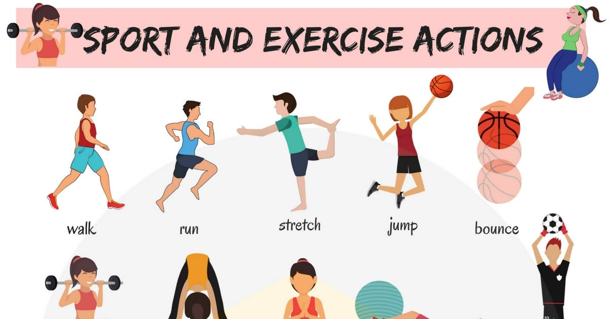 Learn Sport and Exercise Verbs in English 2