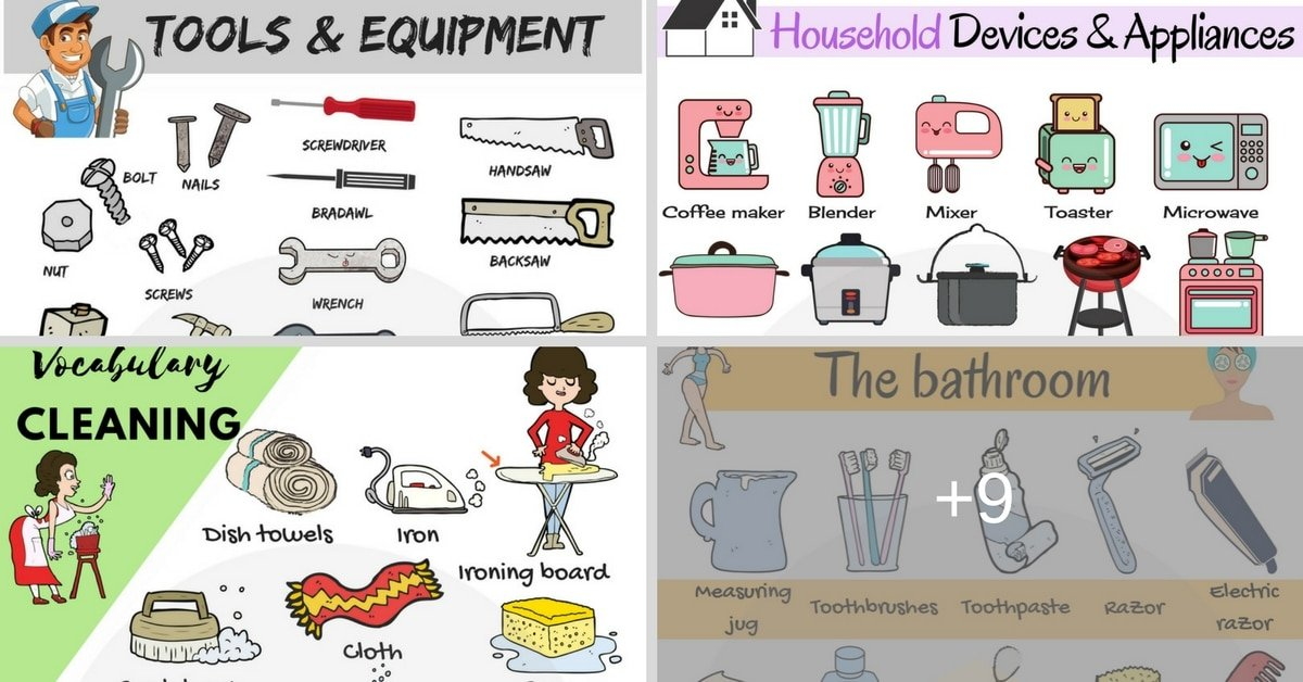 Tools and Equipment Vocabulary in English 4