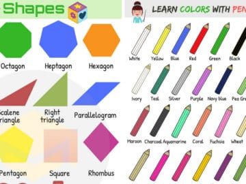 Shapes and Colors Vocabulary in English 18