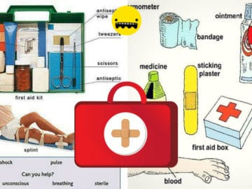 First Aid Kit Vocabulary in English 14