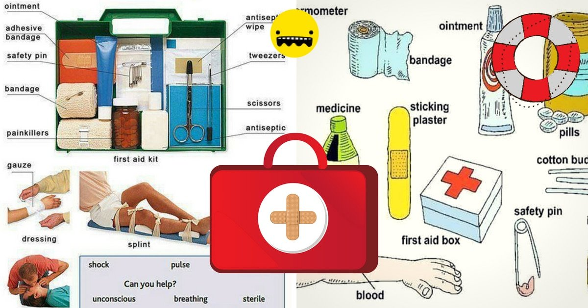 First Aid Kit Vocabulary in English 4