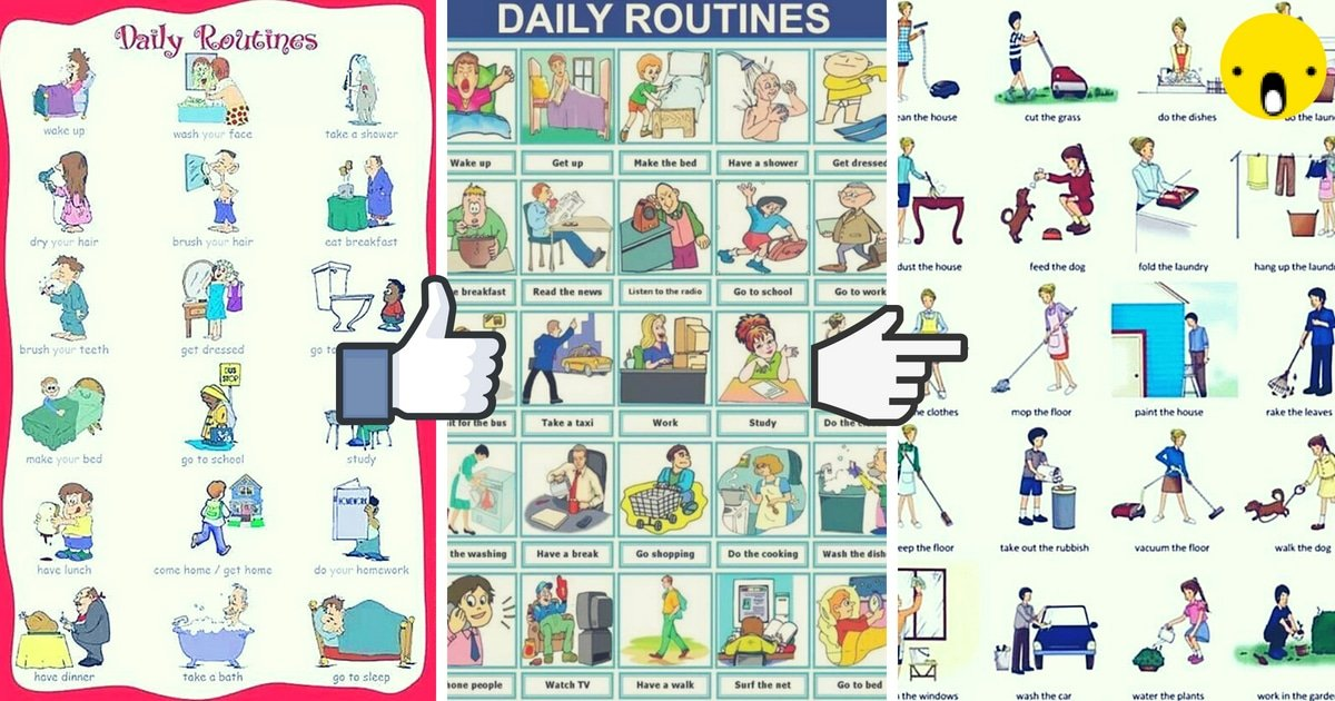 Daily Routines and Household Chores Vocabulary in English 6