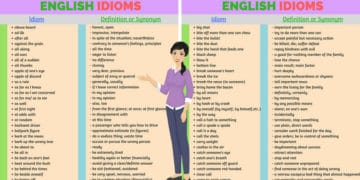 200+ Common English Idioms and Phrases with Their Meaning 10