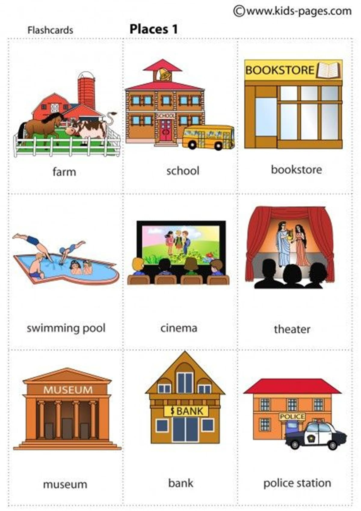 Learn English Vocabulary: Places in the City 1
