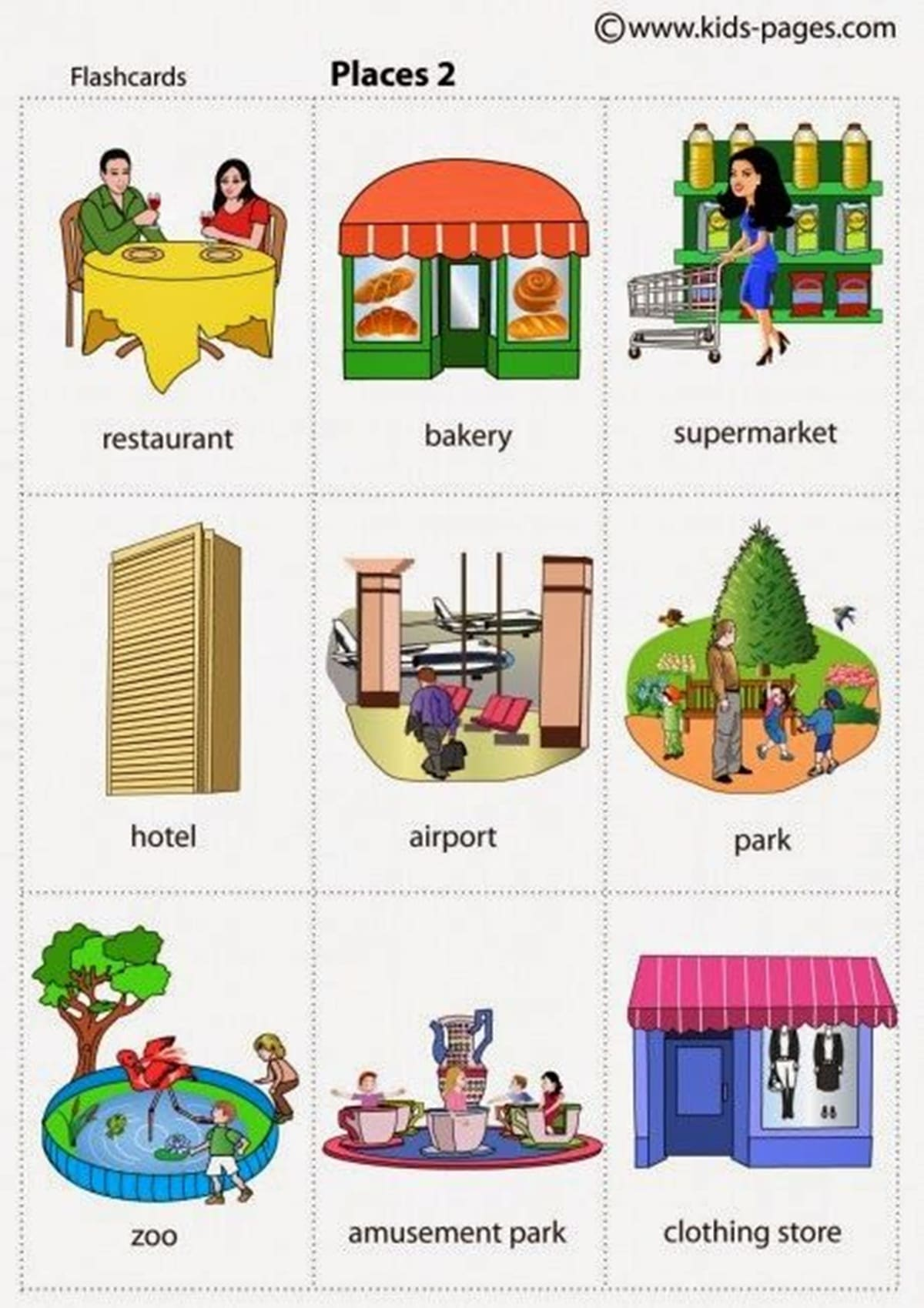 Learn English Vocabulary: Places in the City 2