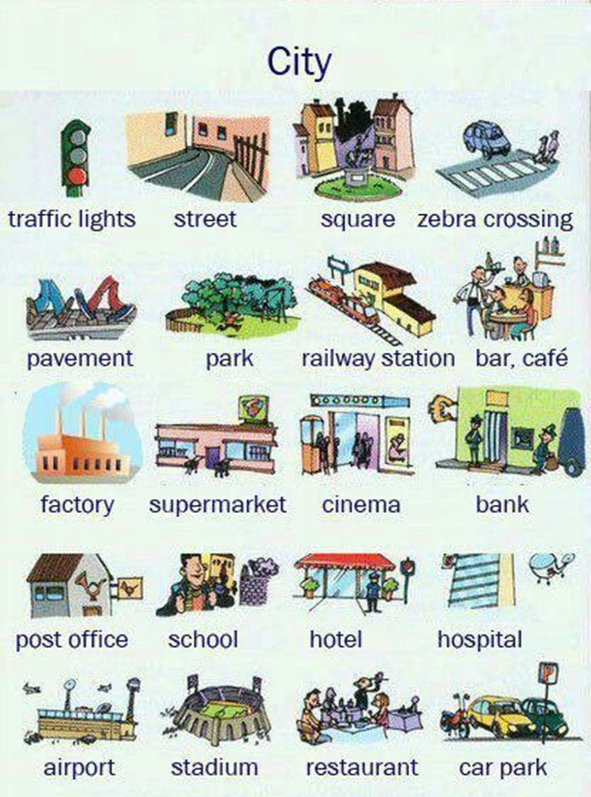 Learn English Vocabulary: Places in the City 3