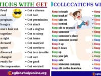 250+ Frequently Used Collocations List in English 6