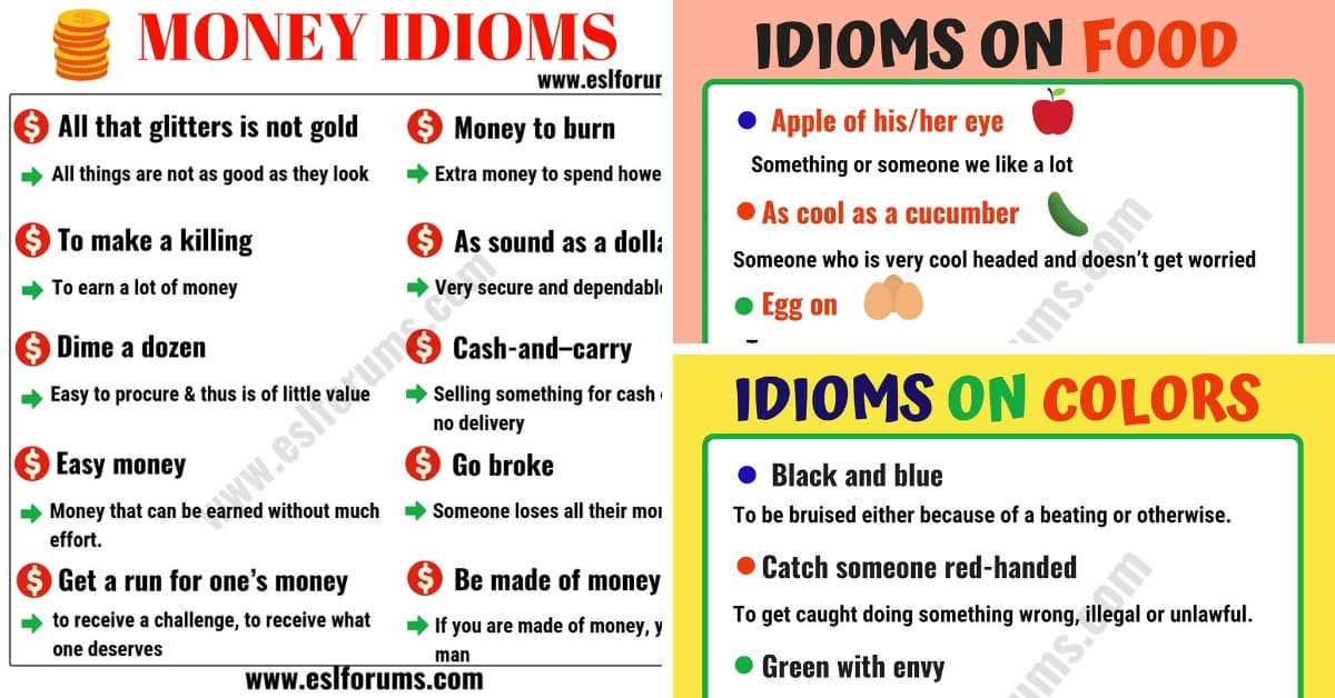 English Idioms: Learn English Idioms with Topics 1